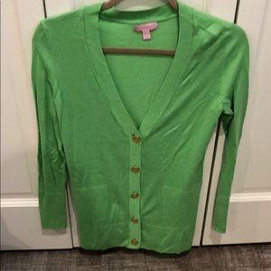 Lilly Pulitzer green sweater. Perfect for vacation